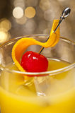 Harvey Wallbanger Cocktail Stock Photo
