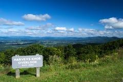 Harveys Knob Overlook from the  Blue Ridge Parkway Royalty Free Stock Photography