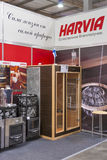 Harvia Finnish sauna products company booth Royalty Free Stock Image