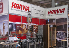 Harvia Finnish sauna products company booth Stock Photo