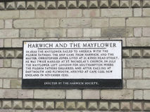 Harwich and the Mayflower Royalty Free Stock Images