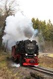 Harz montains, Γερμανία, ο Νοέμβριος 8 2015, τραίνο ατμού με το τραίνο στο τ Στοκ εικόνες με δικαίωμα ελεύθερης χρήσης