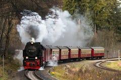Harz montains, Γερμανία, ο Νοέμβριος 8 2015, τραίνο ατμού με το τραίνο Στοκ εικόνες με δικαίωμα ελεύθερης χρήσης