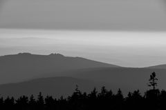 The Harz National Park. View from the summit of the Brocken in the Harz National Park Royalty Free Stock Image