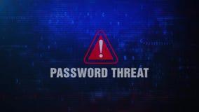 HASŁA zagrożenia ostrzeżenia błędu wiadomości Ostrzegawczy mruganie na ekranie ilustracji