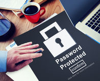 Hasło Ochraniający prywatności Zbawczy Intymny pojęcie obraz royalty free