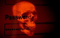 Hasło ochrony cyber złodzieja ochrony weryfikacji system danych obrazy royalty free