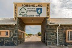 Hasłowa brama w Robben wyspie, Kapsztad, Południowa Afryka Obraz Royalty Free