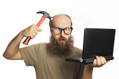 He has become crazy (series) Stock Photo