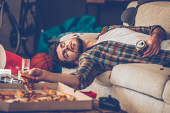 It has been a long night. Royalty Free Stock Photo
