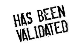 Has Been Validated rubber stamp Royalty Free Stock Photos