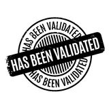 Has Been Validated rubber stamp Stock Photo