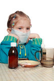 Has caught a cold... Royalty Free Stock Image