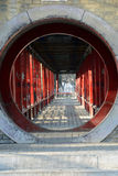 It has a circular garden China antique building Stock Photos