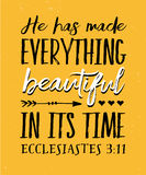 He has Made Everything Beautiful in its Time royalty free illustration