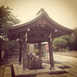 Hasadera shrine, Tokyo. Water bowl at Hasadera Royalty Free Stock Image