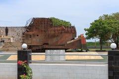 Hasalaka Gamini Memorial - passagem do elefante, Jaffna - Sri Lanka fotos de stock