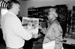 HASAN ABIDI VISITE DENMARK IN 1989 Royalty Free Stock Photos