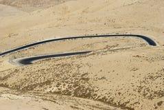 hasan kalkon för bergbergväg jordan Arkivfoton