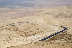 hasan kalkon för bergbergväg jordan Arkivfoto