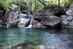 Hasanboguldu waterfall Stock Photos