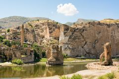 Hasankeyf is an ancient town and district located along the Tigris River in the Batman Province in southeastern Turkey. Stock Photo