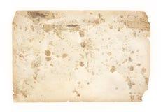 Hasar gammalt papper för textur med spår av och fläckar Arkivfoto