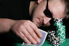 hasardspelare Arkivbild