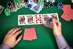 hasardspelare Fotografering för Bildbyråer