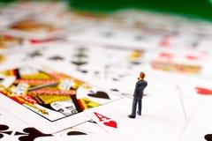 hasardspelare royaltyfri bild