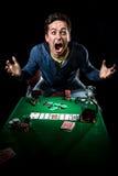 Hasardspelare inomhus Fotografering för Bildbyråer
