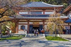 Hasedera寺庙在KamakuraKAMAKURA,日本- 11月24 :Hase 库存照片