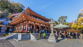Hasedera寺庙在镰仓 库存图片