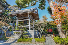 Hasedera Temple in Kamakura. Built in 686 dedicated to Emperor Temmu, main temple of the Buzan sect of Shingon Buddhism Royalty Free Stock Photos