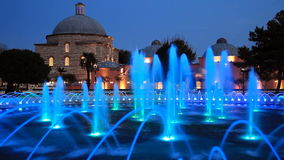 Haseki Hurrem Sultan Hamami and fountain, Istanbul, Turkey. stock video footage