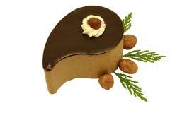 Haselnuss- und Schokoladenkuchen stockbild