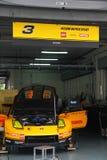 Hasemi Nissan 3 team el garage, SuperGT 2010 Fotos de archivo libres de regalías