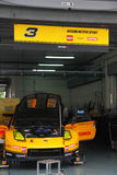 Hasemi Nissan 3 team garage, SuperGT 2010 royalty free stock photos