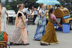 Hasen Krishna Hasen Rama auf den Straßen Lizenzfreies Stockbild