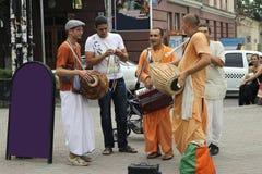 Hasen Krishna Hasen Rama auf den Straßen Lizenzfreie Stockfotos