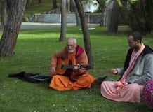 Hasen Krishna-Nachfolger lizenzfreie stockfotografie