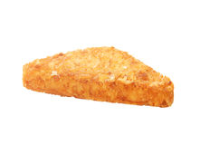 Hash brown isolated on a white Royalty Free Stock Photography