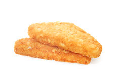 Hash brown isolated on white. Background stock photo
