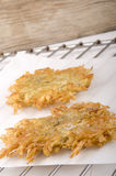 Hash brown on kitchen paper Royalty Free Stock Photo