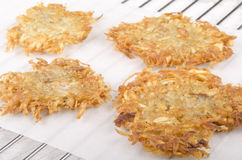 Hash brown on kitchen paper Stock Photo