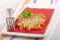Hash brown with parsley Royalty Free Stock Photo