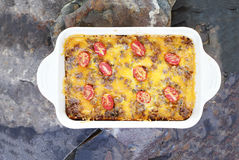 Hash Brown Strata or Breakfast Casserole royalty free stock photography