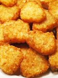 Hash browns. In buffet corner stock images