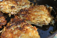Hash Browns Closeup Stock Photography