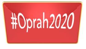 Hash etykietka Oprah 2020 wykazywać tendencję Obrazy Royalty Free